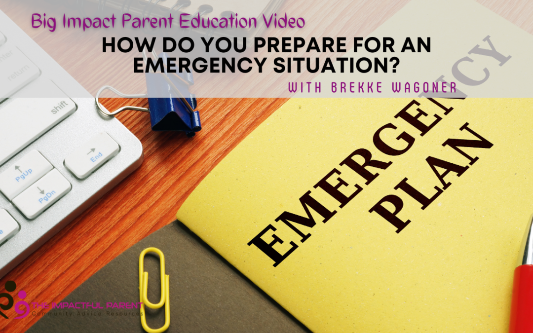 How Do You Prepare For An Emergency Situation