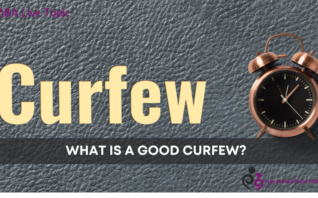 What is a good curfew?