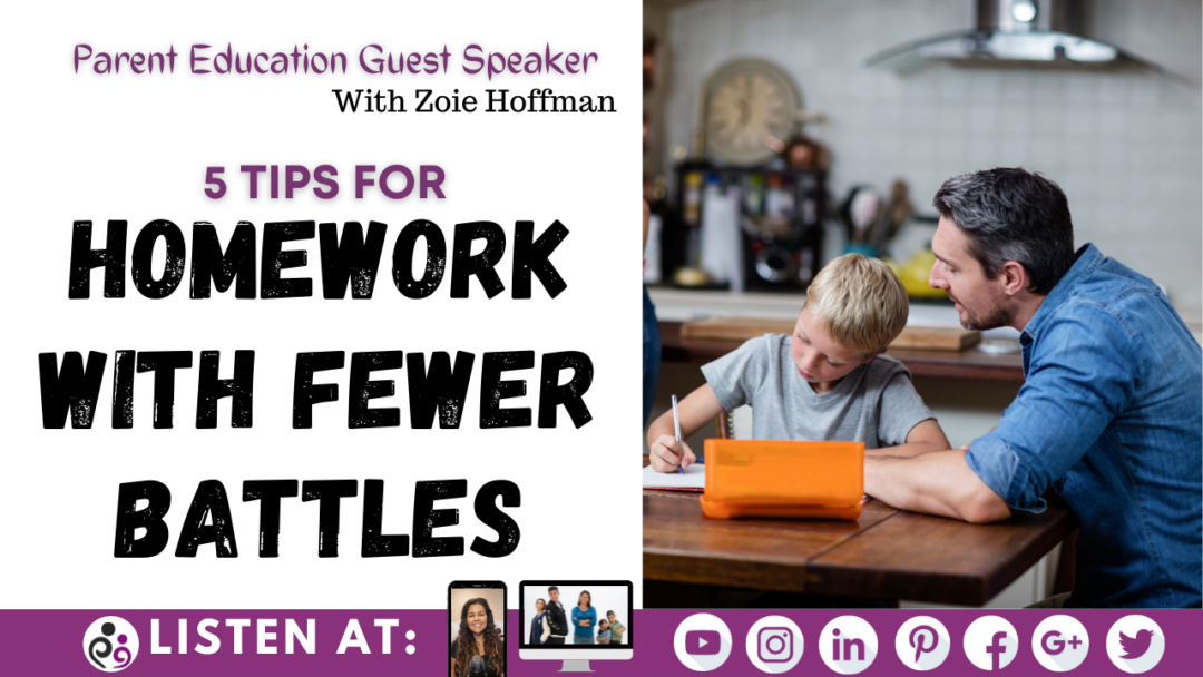 5 Tips for homework with fewer battles